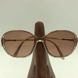 Vintage Oleg Cassini Multi-Color Oval Sunglasses